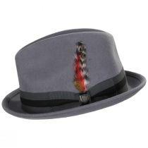 Gain Gray/Dark Gray Wool Felt Fedora Hat alternate view 7