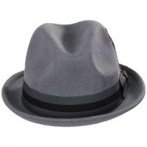Gain Gray/Dark Gray Wool Felt Fedora Hat alternate view 10