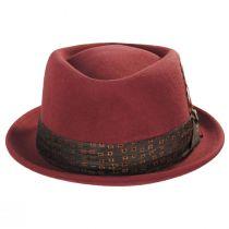 Stout Brick Wool Felt Diamond Crown Fedora Hat alternate view 2