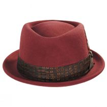 Stout Brick Wool Felt Diamond Crown Fedora Hat alternate view 2