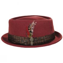 Stout Brick Wool Felt Diamond Crown Fedora Hat alternate view 3