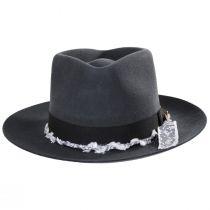 Solitaire Wool Felt Fedora Hat alternate view 10
