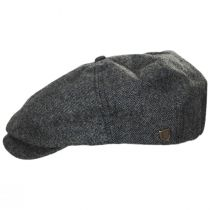 Brood Blue/Gray Tweed Wool Blend Newsboy Cap alternate view 3