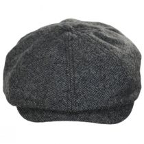 Brood Blue/Gray Tweed Wool Blend Newsboy Cap alternate view 6