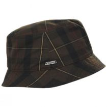British Millerain Waxed Plaid Cotton Rain Bucket Hat alternate view 11