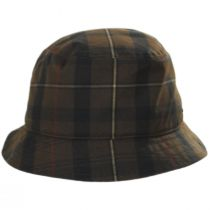 British Millerain Waxed Plaid Cotton Rain Bucket Hat alternate view 18