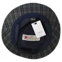 British Millerain Waxed Plaid Cotton Rain Bucket Hat alternate view 4