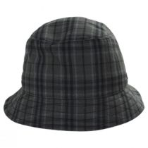 British Millerain Waxed Plaid Cotton Rain Bucket Hat alternate view 6