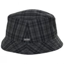 British Millerain Waxed Plaid Cotton Rain Bucket Hat alternate view 15