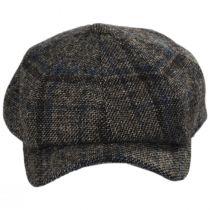 Vintage Shetland Plaid Wool Newsboy Cap alternate view 6
