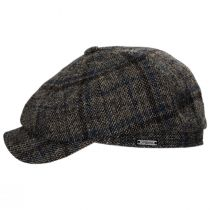 Vintage Shetland Plaid Wool Newsboy Cap alternate view 7
