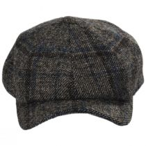 Vintage Shetland Plaid Wool Newsboy Cap alternate view 38