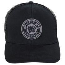 Forte Mid Pro Black Cotton Blend Trucker Snapback Baseball Cap alternate view 2