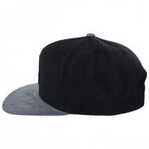 Rival Black/Charcoal Wool Blend Snapback Baseball Cap alternate view 3