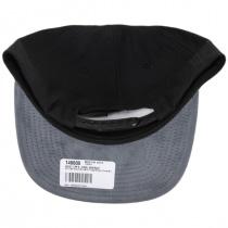 Rival Black/Charcoal Wool Blend Snapback Baseball Cap alternate view 4