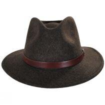 Messer Brown Mix Wool Felt Fedora Hat alternate view 2