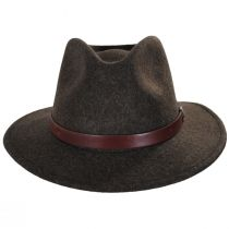 Messer Brown Mix Wool Felt Fedora Hat alternate view 6