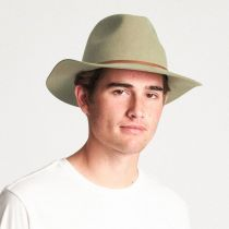 Wesley Dark Khaki Wool Felt Fedora Hat alternate view 11