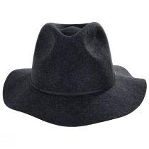 Wesley Black Heather Felt Fedora Hat alternate view 2