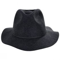Wesley Black Heather Felt Fedora Hat alternate view 8