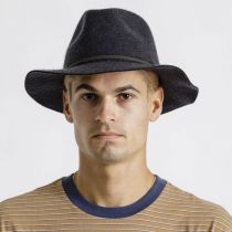 Wesley Black Heather Felt Fedora Hat alternate view 29