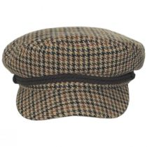 Houndstooth Tweed Wool Blend Fiddler's Cap alternate view 2