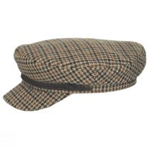 Houndstooth Tweed Wool Blend Fiddler's Cap alternate view 7