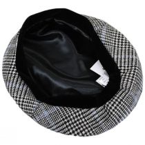 Show Your Teeth Black/Blue Wool Blend Beret alternate view 8