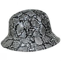 Snakeskin Cotton Blend Bucket Hat alternate view 3