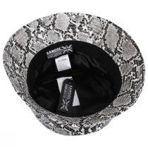 Snakeskin Cotton Blend Bucket Hat alternate view 4
