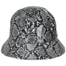 Snakeskin Cotton Blend Bucket Hat alternate view 7