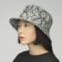 Snakeskin Cotton Blend Bucket Hat alternate view 20