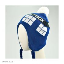 Dr. Who TARDIS Knit Acrylic Peruvian Beanie Hat