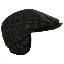 Fabian Earflap Herringbone Wool Ivy Cap alternate view 4