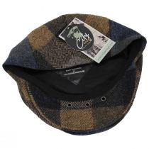 Donegal Squares Herringbone Tweed Wool Ivy Cap alternate view 4