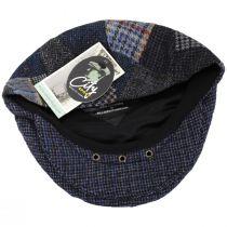 Donegal Patchwork Harris Tweed Wool Ivy Cap alternate view 12