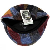 Donegal Patchwork Harris Tweed Wool Ivy Cap alternate view 20