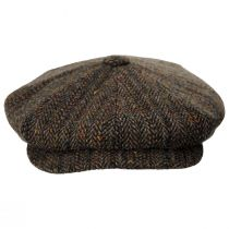 Donegal Remix Herringbone Tweed Wool Newsboy Cap alternate view 14