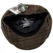 Donegal Remix Herringbone Tweed Wool Newsboy Cap alternate view 16