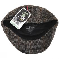 Overcheck Herringbone Harris Tweed Wool Newsboy Cap alternate view 4
