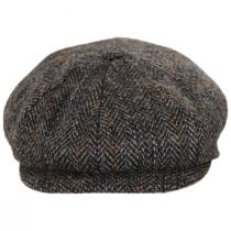 Overcheck Herringbone Harris Tweed Wool Newsboy Cap alternate view 10