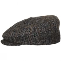 Overcheck Herringbone Harris Tweed Wool Newsboy Cap alternate view 15