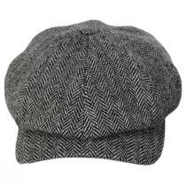 Classic Shetland Wool Herringbone Newsboy Cap alternate view 2