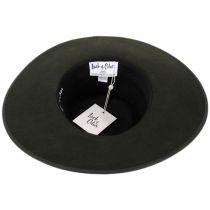 Rancher Forest Green Wool Felt Fedora Hat alternate view 4