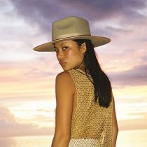 Rancher Caramel Wool Felt Fedora Hat alternate view 11