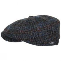 Hatteras Plaid Harris Tweed Wool Newsboy Cap alternate view 3
