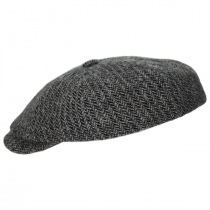 Hatteras Herringbone Wool Newsboy Cap alternate view 3