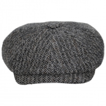 Hatteras Herringbone Wool Newsboy Cap alternate view 18