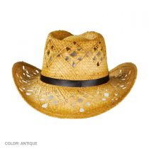 Annie Oakley Raffia Straw Western Hat alternate view 5