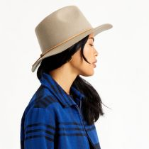 Wesley Light Tan Wool Felt Fedora Hat alternate view 5
